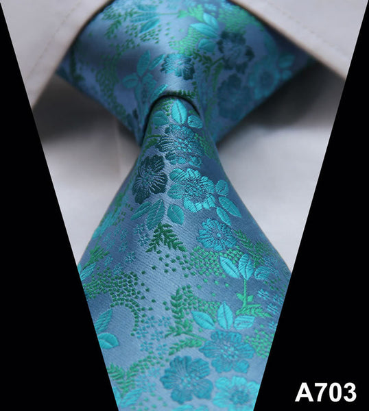 Floral  Stripe 100%Silk Tie,Wedding Tie Party Jacquard Woven Classic Men's Tie Necktie  A7