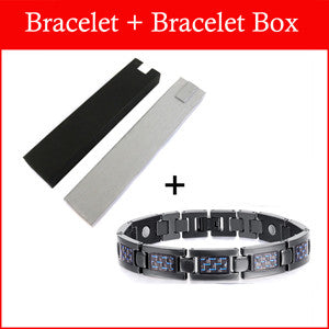 2015 Fashion Jewelry Men or Women Bracelet Energy Healing Titanium Magnetic Bracelet Health With Christmas Gift OTB-1271