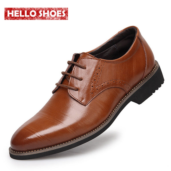 2015 New High Quality Genuine Leather Men Brogues Shoes, Lace-Up Bullock Business Men Oxfords Shoes, Men Dress Shoes