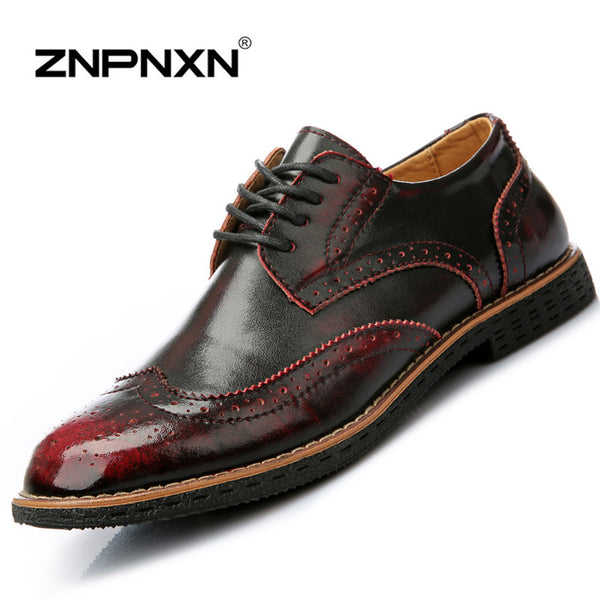 New Mens Oxford Shoes 2015 Genuine Leather Fashion Dress Office Luxury Autumn Sneakers For casual Shoes Size38-43 Men's Flats