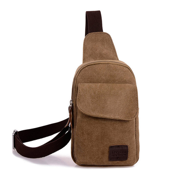 Hot 2015 new Casual men's chest pack sports canvas bags multifunctional outdoor small male messenger bags Fashion shoulder bags