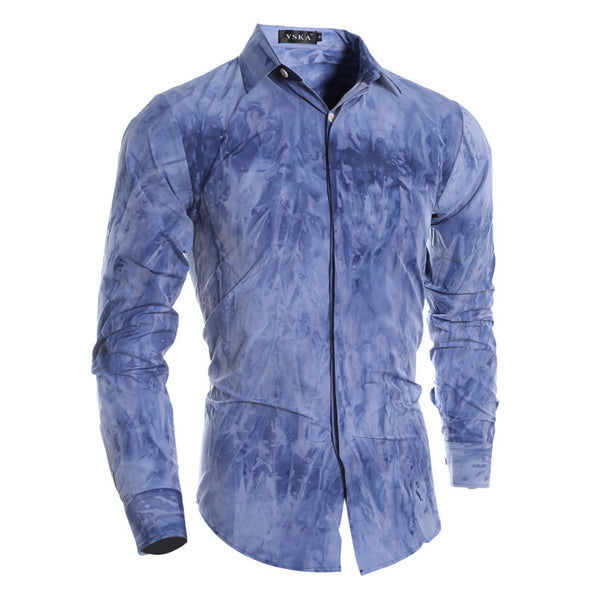 2016 new high quality men's casual shirts tie dye printing 3D 5083 P40