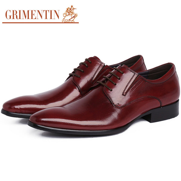 2016 luxury brand mens dress shoes genuine leather lace-up pointed toe designer formal italian men shoe basic flats for business