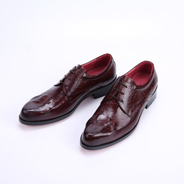 2015 luxury crocodile fashion mens dress shoes genuine leather balck brown flats for man party business978