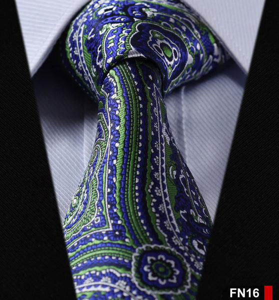 "Floral 3.4"" 100%Silk Wedding Party Jacquard Woven Classic Men Tie Necktie FN"