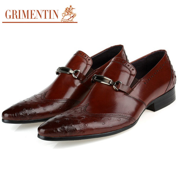 2016 luxury designer men dress shoes carved toe slip on genuine leather italian male shoes men flats for wedding party business