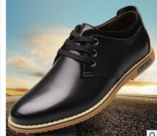 Summer 2015 Man's Leather Shoes Round Toe Elegant Business Dress Shoes Breathable Size 39-44 Two Colors Popular For Male XMP289