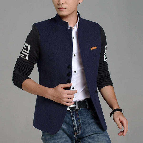 New Trend Slim Fit Blazers Men Top Quality Chinese Style Suits Jackets for Men Chinese Tunic Suit Men Blazers M-3XL FS-086