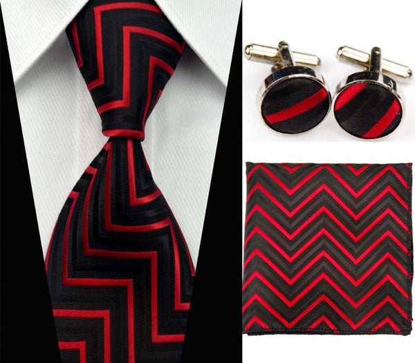 SNT0007   Men's 100% Jacquard Woven Silk Striped Neckties Tie handkerchief Cufflinks Sets for men Formal Wedding Party Groom