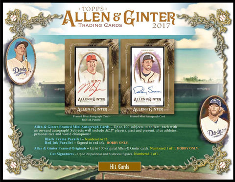 2017 Allen And Ginter Personal Box Break- YOUR OWN BOX!!!