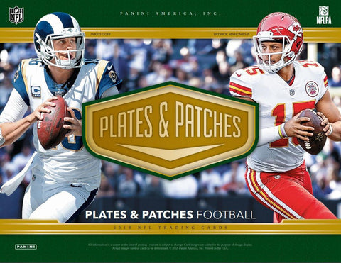 PPCOST1- 2018 PLATES AND PATCHES 12 BOX CASE BREAK-