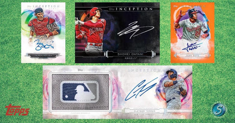19INCEPTION4- 2019 TOPPS INCEPTION BASEBALL 16 BOX CASE BREAK # 4