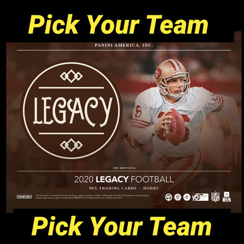 20LGPYT6- 2020 LEGACY FOOTBALL 12 BOX CASE BREAK- PICK YOUR TEAM #6