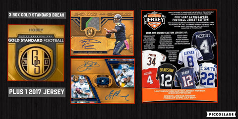 GSF3B3- 2017 Gold Standard Football 3 Box Random Team Break PLUS BONUS MYSTERY JERSEY - 1 Random Team Per Spot