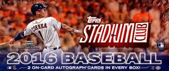 2016 Stadium Club Baseball Personal Box Break