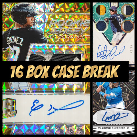 19CBB1- 2019 CHRONICLES BASEBALL 16 BOX CASE BREAK