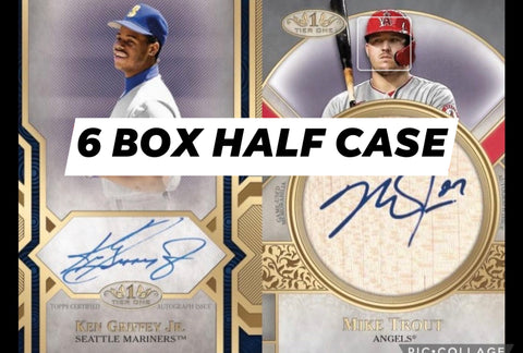 21T16B - 2021 TIER ONE BASEBALL 6 BOX HALF CASE BREAK - RANDOM TEAMS 1