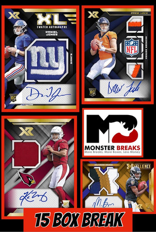 19XR154- 2019 XR FOOTBALL 15 BOX CASE BREAK #4