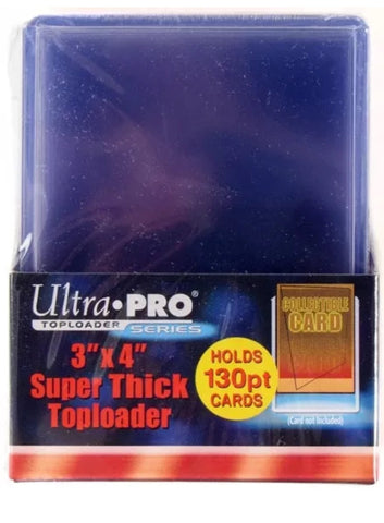 Ultra Pro 130pt Super Thick 3 x 4 Top Loaders