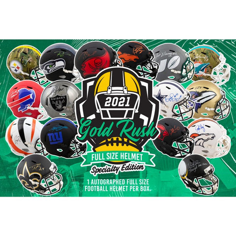 21GRSE3- 2021 GOLD RUSH FULL SIZE SPECIALTY EDITION HELMETS CASE 3