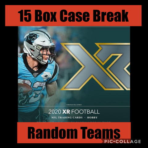 20XR15B1- 2020 XR FOOTBALL 15 BOX CASE BREAK - RANDOM TEAMS