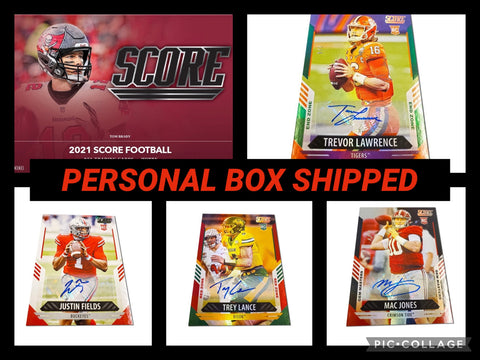 21SCPB- 2021 SCORE FOOTBALL PERSONAL BOX - SHIPPED TO YOU