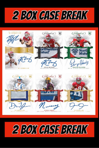 19FCFB4 - 2019 FLAWLESS COLLEGE FOOTBALL FULL CASE # 4