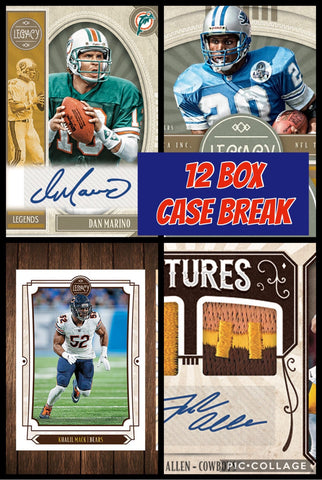 19LEG012 - 2019 LEGACY FOOTBALL 12 BOX CASE BREAK 12