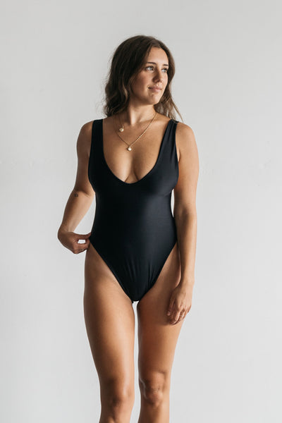 Kylah One - Piece  / Black & Ivory