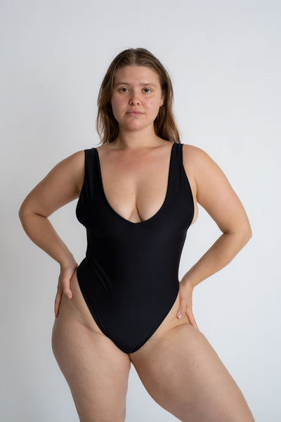 Kylah One - Piece  / Black & Crepe