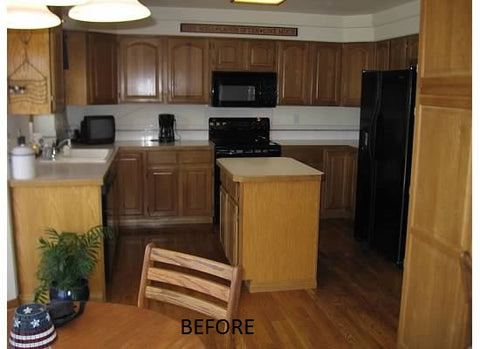 The Frugal Farmhouse Kitchen Part Wicker Hill - Remnant kitchen cabinets