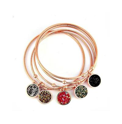 Georgina Rose Gold Plated Bangles - Pearl + Creek