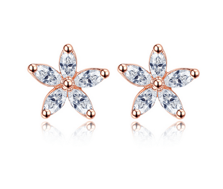EMMA 5 Star Austrian Crystal Earrings - Pearl + Creek