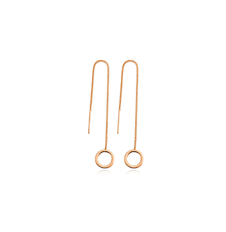 Christina Long Gold Tassel Earrings - Pearl + Creek