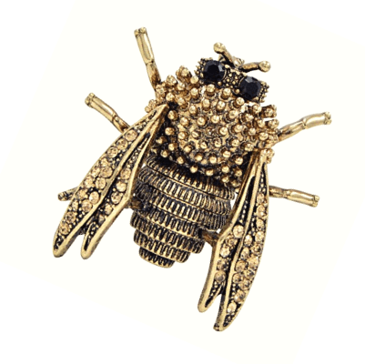 Genevieve Gold Cicada Insect Brooch - Pearl + Creek