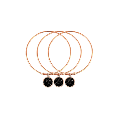 Georgina Rose Gold Bangles - Pearl + Creek