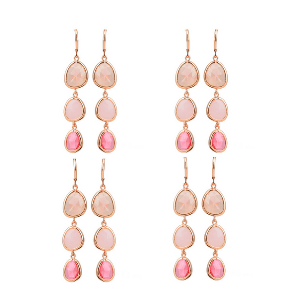 Perrine Crystal Drop Earrings - Pearl + Creek