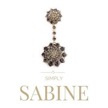 Sabine Black Crystal Drop Pendant - Pearl + Creek