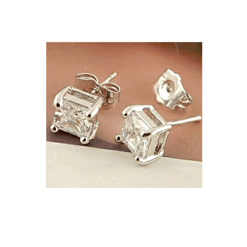 Stephania Crystal Square Earrings - Pearl + Creek