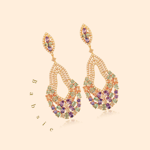 Babsie Gem Drop Earrings - Pearl + Creek