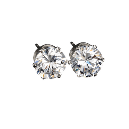Camille White Crystal Stud Earrings - Pearl + Creek
