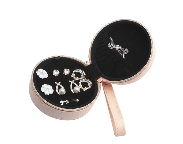 Abellina Crystal Drop Earring Set with Solitare in Travel Case - Pearl + Creek