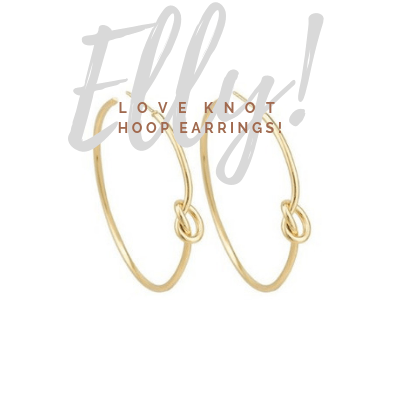 Elly Love Knot Hoop Earrings - Pearl + Creek