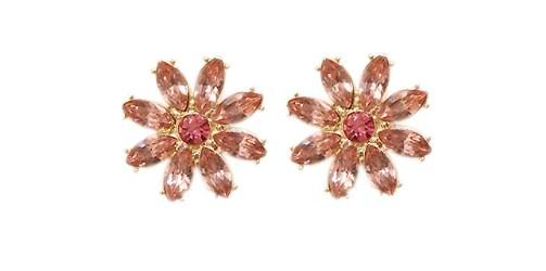 Georgiana Pink Crystal Stud Earrings - Pearl + Creek