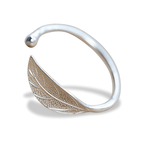 Lieta Silver Adjustable Bangle Bracelet - Pearl + Creek
