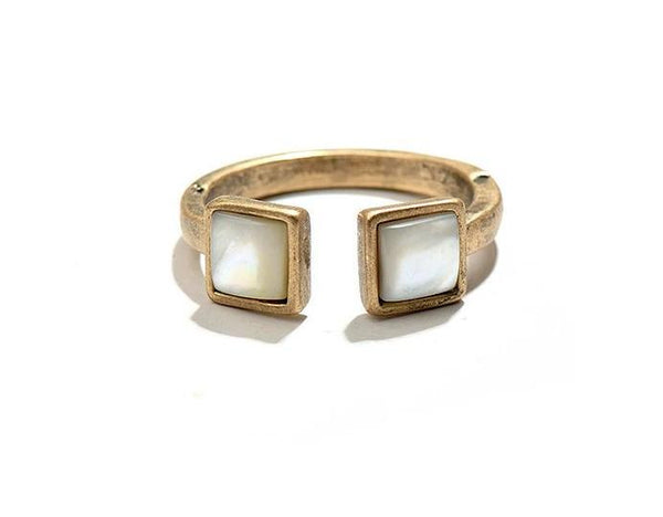 Lucy Adjustable Ring - Pearl + Creek