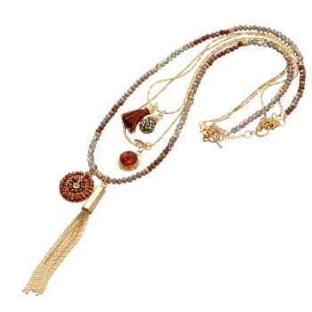 Natascha Tassel + Charm Necklace - Pearl + Creek