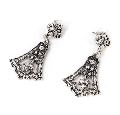 Paloma Vintage Chandelier Tear Drop Earrings - Pearl + Creek