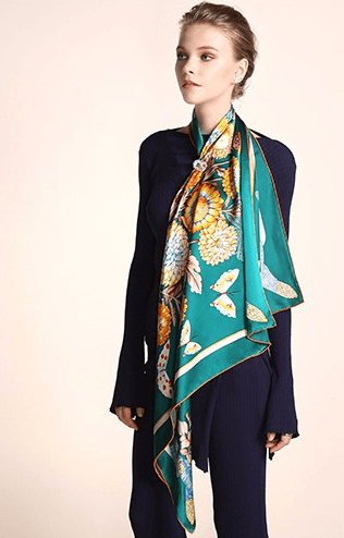 BRIENNE Silk Scarf - Pearl + Creek