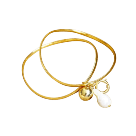 Tommi Pearl and Ball Pendant Bracelets - Pearl + Creek